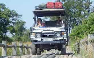 David Foot on a 4x4 safari