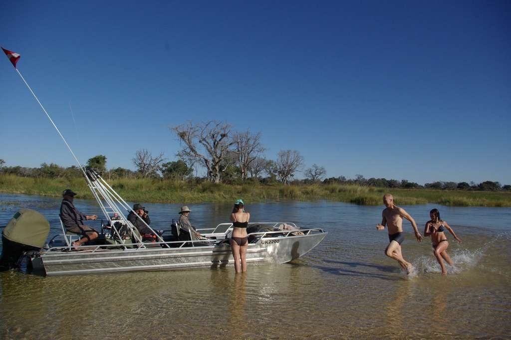Having fun in the Okavango Delta